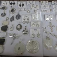 ear rings, necklaces