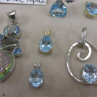 ear rings, necklaces, gems
